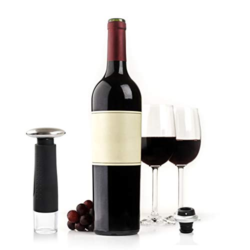 Secura Deluxe Wine Lovers Gift Set | 7-Piece Wine Accessories Set | Electric Wine Opener, Wine Foil Cutter, Wine Saver Vacuum Pump + 2 Wine Stoppers by Secura (Image #3)