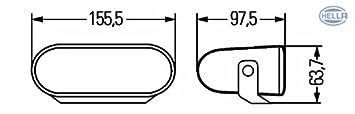 12 V Anbau links//rechts h/ängend//stehend HELLA 1FA 008 284-011 Fernscheinwerfer FF 75 Halogen