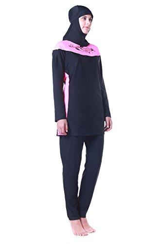 66a0d8016c Women Muslim Swimwear Full Coverage Islamic Modest Swimsuit 3 Pieces ...