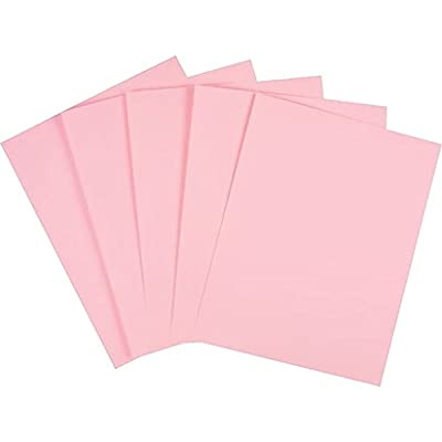 "Staples® Pastel Colored Copy Paper, 8 1/2"" X 11"", Pink, Ream"