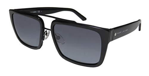 Marc Jacobs Men's Marc57s Rectangular Sunglasses, Black/Gray Gradient, 56 ()