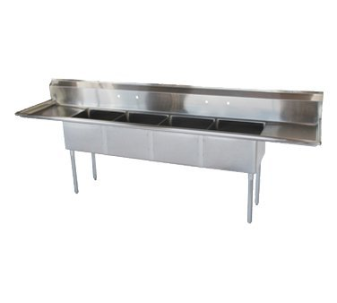 Turbo Air 108'' 4 Compartment Sink