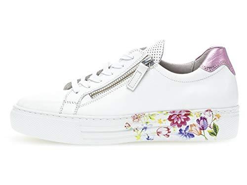 suela flow zapatos Skate calzado low De Gabor Mujer Weiss Deportivo rosa Plataforma top 468 26 s ZwqRaTz