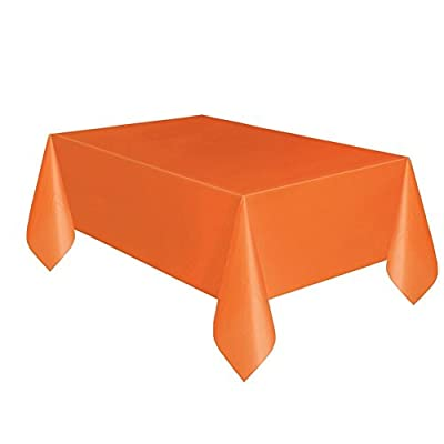 Creative Converting Touch of Color 54-Inch x 108-Inch Plastic Table Cover, Sunkissed Orange (Pack of 2) from Creative Converting