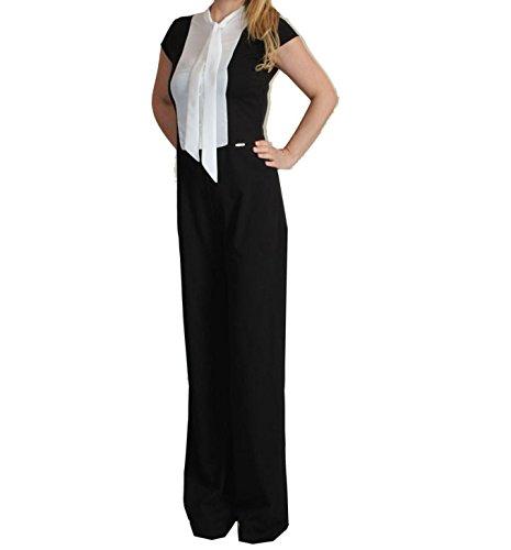 Garanzia di soddisfazione al 100% carino e colorato prezzi al dettaglio lizalù Tuta donna elegante nera taglia comoda: Amazon.it ...