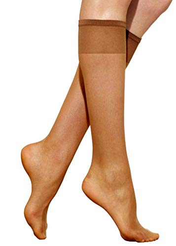 Silkies Women's Ultra Knee Highs with Energizing Support 3 Pair Pack -Regular - Sizes Compression Stockings