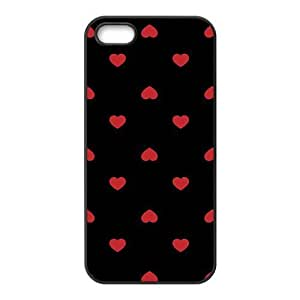 cute red lovely heart with black background personalized creative custom protective phone case for Iphone ipod touch4