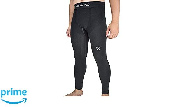 f69e4a90d1 Amazon.com: Vital Salveo- Men Compression Recovery Long Leggings Tights for  Running, Workout, Sports: Clothing
