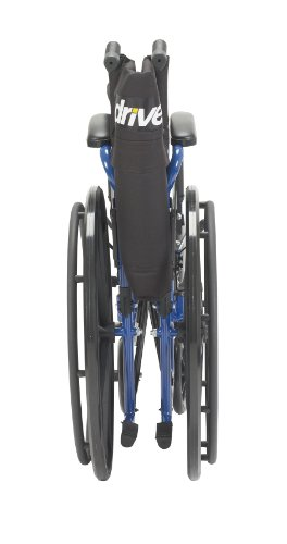 Drive Medical Blue Streak Wheelchair with Flip Back Desk Arms, Elevating Leg Rests, 20'' Seat by Drive Medical (Image #5)