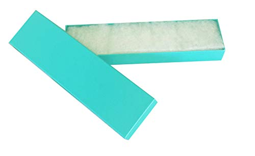 The Display Guys, Pack of 25 Teal Green 8x2x1 inches Cotton Filled Paper Jewelry Box Gift Display Case (#82)