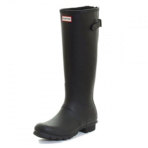 Hunter W Original Back Adjustable Tall Rain Boots Black Womens 10 by Hunter