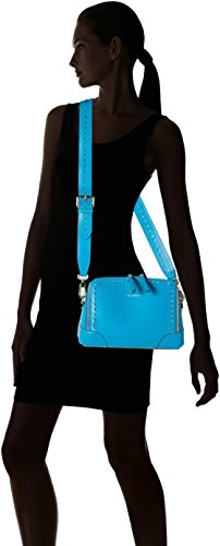 Twin Set As8pma, Borsa a Tracolla Donna, 10x19x25 cm (W x H x L) Turchese