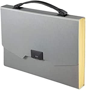 Comix a3113 Expanding File, a4 Size, With Handle, Gray Color