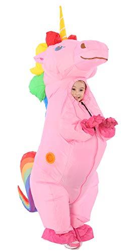 Funny Costumes Unicorn Inflatable Costume for Kid (Unicorn Rainbow Small)