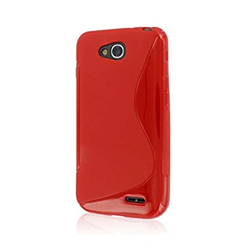 MPERO [Flex S] LG Optimus L90 Case, Slim Fit Protective Flexible Shell Cover, Red (Covers Lg Optimus L90)