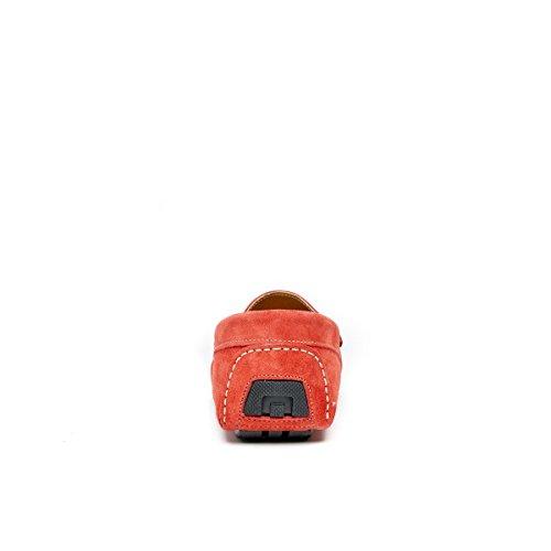 Frank Daniel Mocassino con Decorazione Plain di Colore Rosso. Plain Mocassin Red. Uomo.