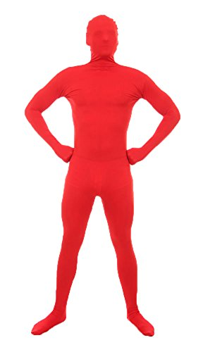 [Green Man Factory Adult Body Suit - Medium, Red] (Green Man Body Suit)