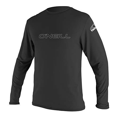O'Neill   Men's Basic Skins UPF 50+ Long Sleeve Sun Shirt,Black,X-Large