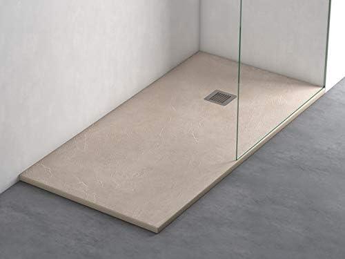 Plato ducha resina antideslizante textura pizarra Lane Bricodomo 80x110 Crema: Amazon.es: Bricolaje y herramientas