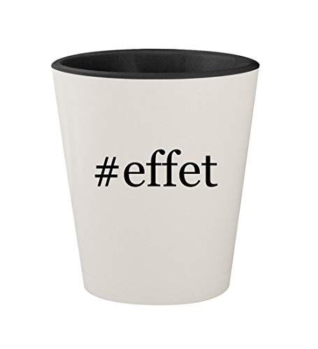 #effet - Ceramic Hashtag White Outer & Black Inner 1.5oz Shot Glass