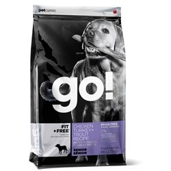 PETCUREAN 152412 Go Fit Plus Free Grain Free Senior for Dog, 25-Pound
