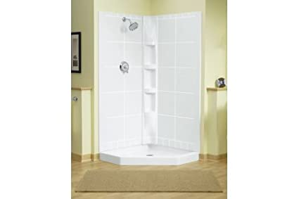 Sterling Plumbing 72040106-96 Intrigue Neo Angle Tile 39-Inch x 39 ...