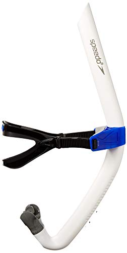 Speedo Bullet Head Swimmer's Snorkel, White, 1SZ