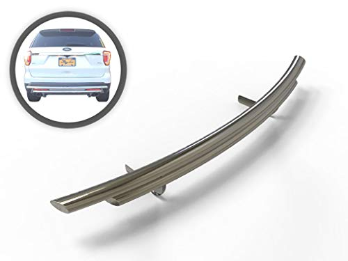 Vanguard VGRBG-1031SS Stainless Steel Double Layer Rear Bumper Guard Compatible with 11-18 Ford Explorer (2016 Ford Explorer Rear Bumper Protector Guard)