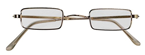 Forum Novelties Men's Square Novelty Glasses, Metallic, One Size