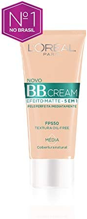 Base Bb Cream L'Oréal Paris Efeito Matte 5 em 1 Fps 50 30G - Media, L'Oré