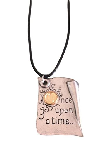 """Once Upon A Time EMMA SWAN Story Book Pendant with 18"""" Leather Cord"""