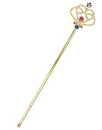 Costume Fairy Princess Queen Gold Magic Wand Scepter