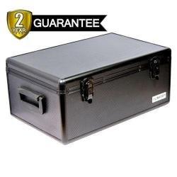 Merax 510 Disc Capacity Black Aluminum Like Hard Plastic CD DVD Storage Case