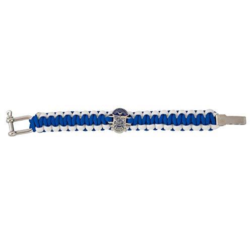Phi Beta Sigma Fraternity Silver Crest Paracord Bracelet - Adjustable Size Sigma (Silver) ()