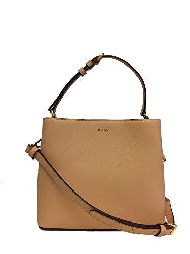 (DKNY Samara Saffiano Leather Small Bucket Crossbody Bag)