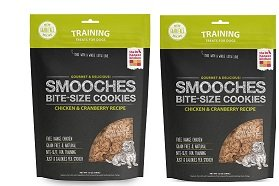 (2 Pack) The Honest Kitchen Smooches: Natural Hand-Baked Grain-Free Chicken & Cranberry Dog Treat Cookies, 12 Ounces - 12 Cookies Dog