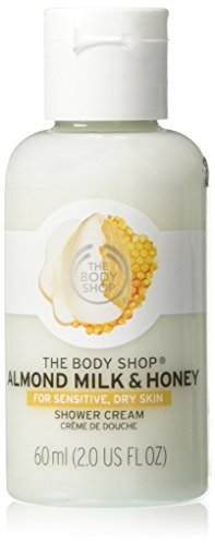 Comforting Butter Body Wash - The Body Shop Almond Milk & Honey Shower Cream, Body Wash for Sensitive, Dry Skin, 2.0 Fl. Oz.