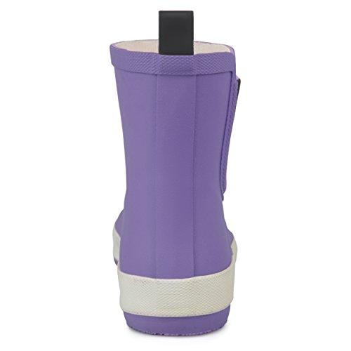 Brinley Co Womens Samar Rubber Sporty Solid Color Rainboots Purple NZgsSoT