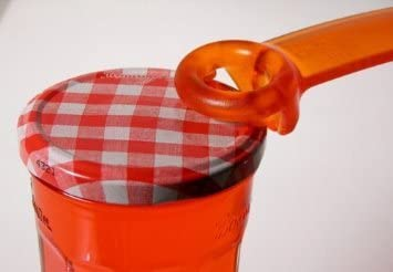 JarKey Jar Opener Frosted Orange The Original Jar Pop!