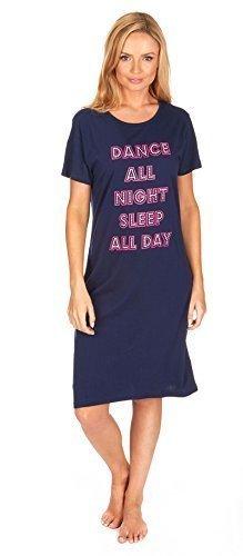 Tutta Donna Notte Camicia Notte Corta Manica Camicia da La Da Danza Da Stampe Camicia Maglia Notte Da Divertenti Notte 8wqHS8