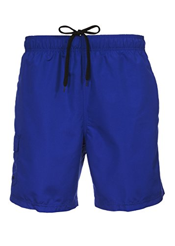 Board Block Shorts Color (Laguna Mens Relaxed Fit Sand Piper Color Block Board Shorts Swim Trunks Royal S)