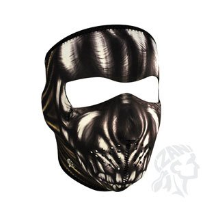 Zan Headgear Men's Ancient Skull Neoprene Full Face Mask, One Size