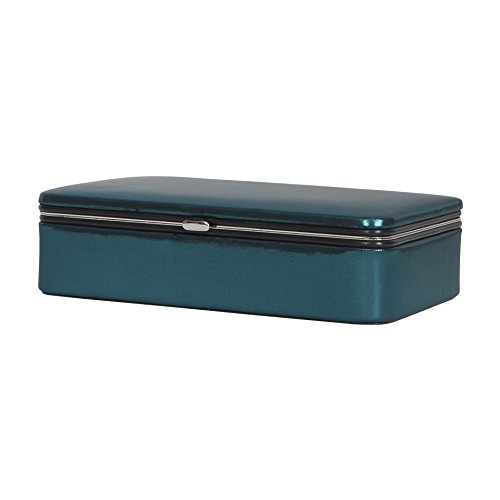 Mele & Co. Devon Metallic Fabric Jewelry Box, Blue