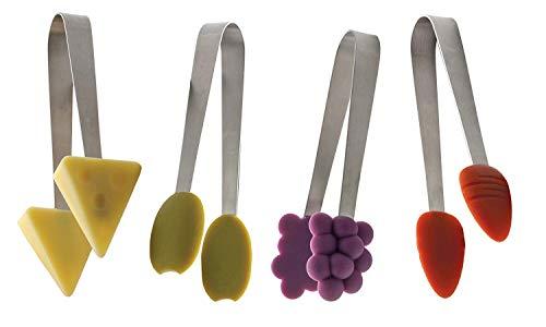 RSVP International TSTY-DD Endurance Tasty, 12 Piece CDU Kitchen Tongs, Multicolored