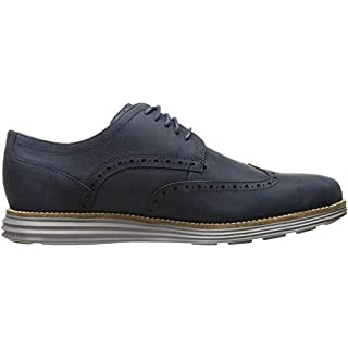 Cole Haan Men's Original Grand Shortwing Oxford, Blazer Blue/Ironstone, 10.5 Medium US
