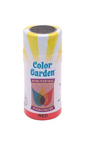 Color Garden Naturally Colored Sugar Crystals, Red 3 oz