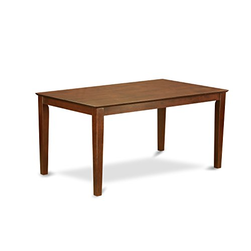 Top Table Solid Dining (East West Furniture CAT-MAH-S Rectangular Dining Table with Solid Wood Top, 36-Inch by 60-Inch)