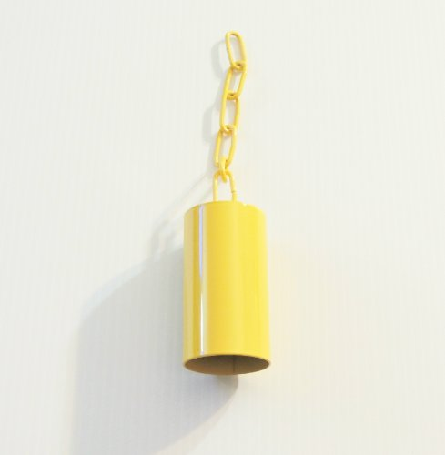 Pipe/safety Bell W/matching Chain Bird Toy Large Yellow by Jungle Beaks