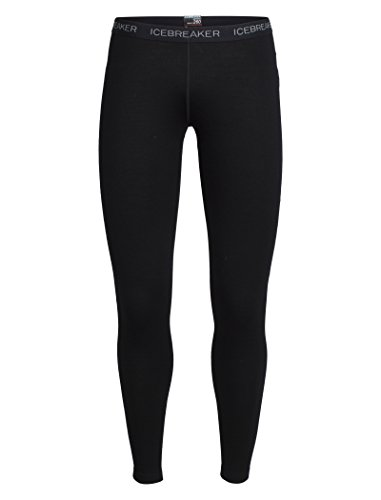 Icebreaker Merino Women's Vertex Leggings, Black, Small (Icebreaker Leggings Wool)
