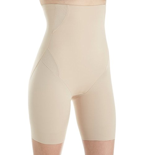 TC Fine Intimates Cool On You Firm Control Thigh Slimmer, M, Nude